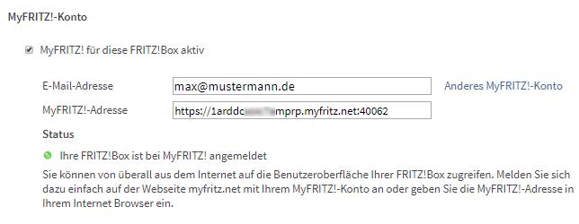 MyFRITZ!-Konto erstellen und in FRITZ!Box einrichten  FRITZ!Box