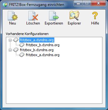 VPN-Verbindung zwischen drei oder mehr FRITZ!Box-Netzwerken