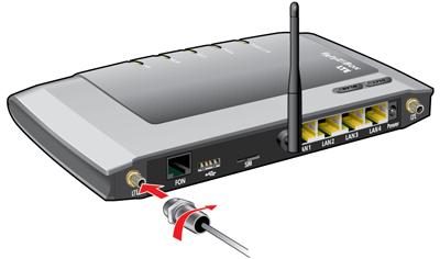 Conectar la antena 4G (LTE) externa