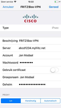 Vpn Verbinding Met Fritzbox In Apple Ios Bijvoorbeeld